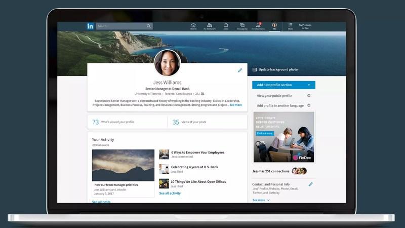 Redesigned LinkedIN
