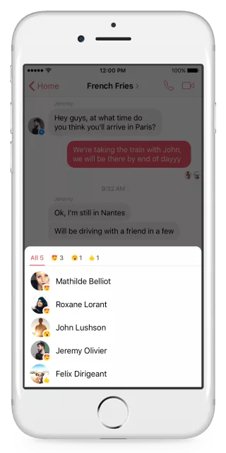 Messenger Reactions Notifications