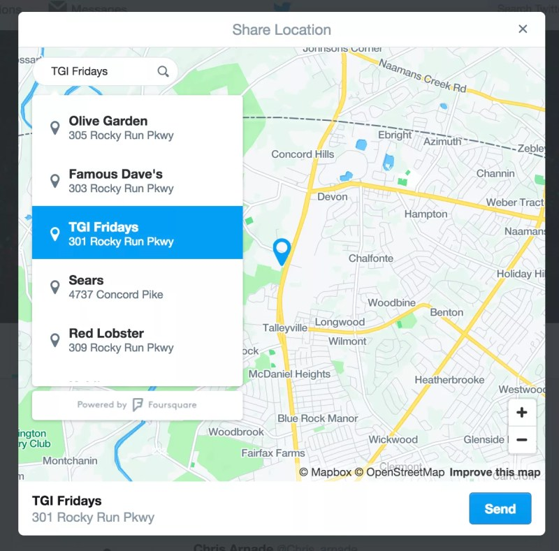 Location sharing and requesting in Direct Messages