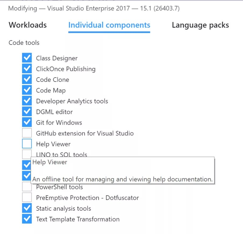 Visual Studio 2017 Offline Books Help Viewer