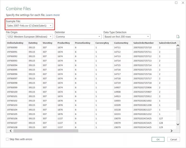 Combine Files in Excel 2016