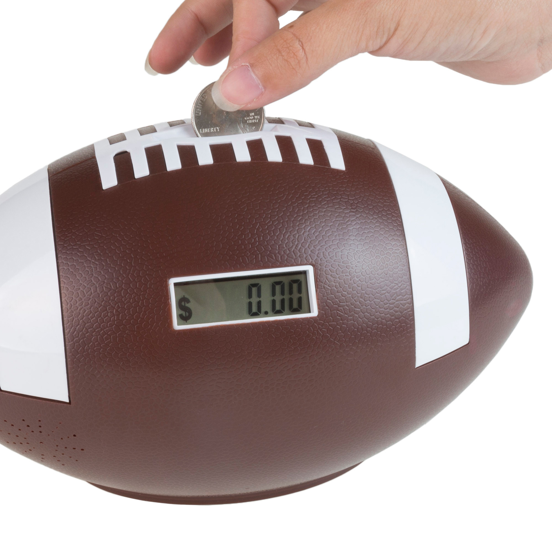 Football Coin Counting Amp Saving Piggy Bank