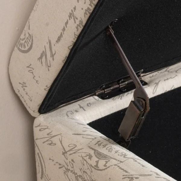 ivory patterned storage ottoman