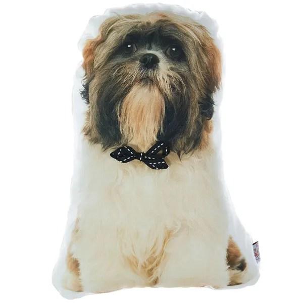 shih tzu dog decorative throw pillow