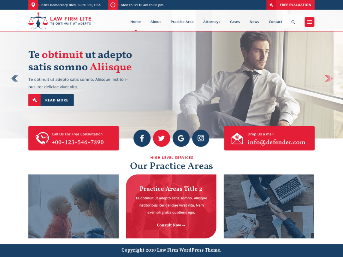 Law Firm Lite WordPress Theme