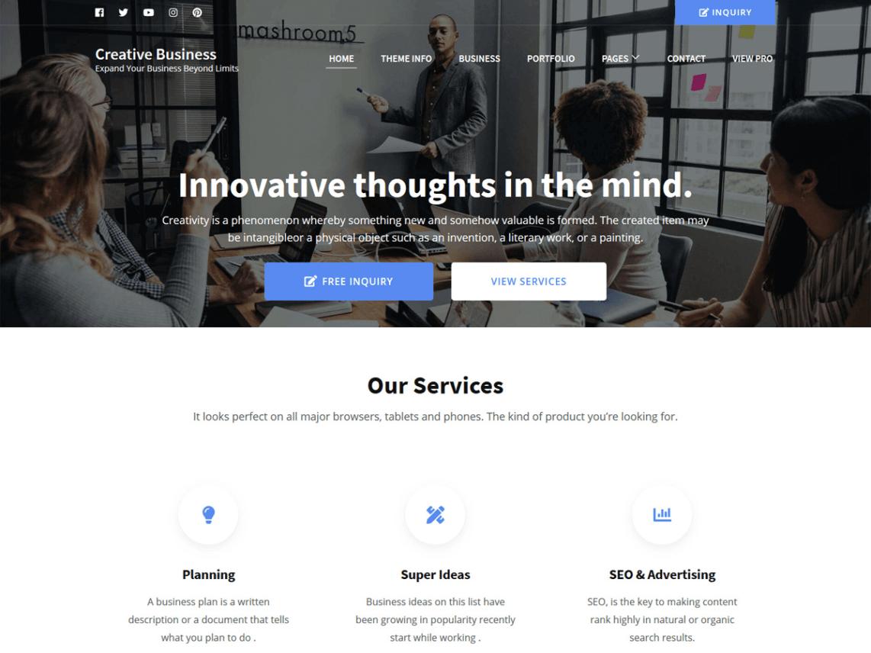 Creative Business WordPress Theme