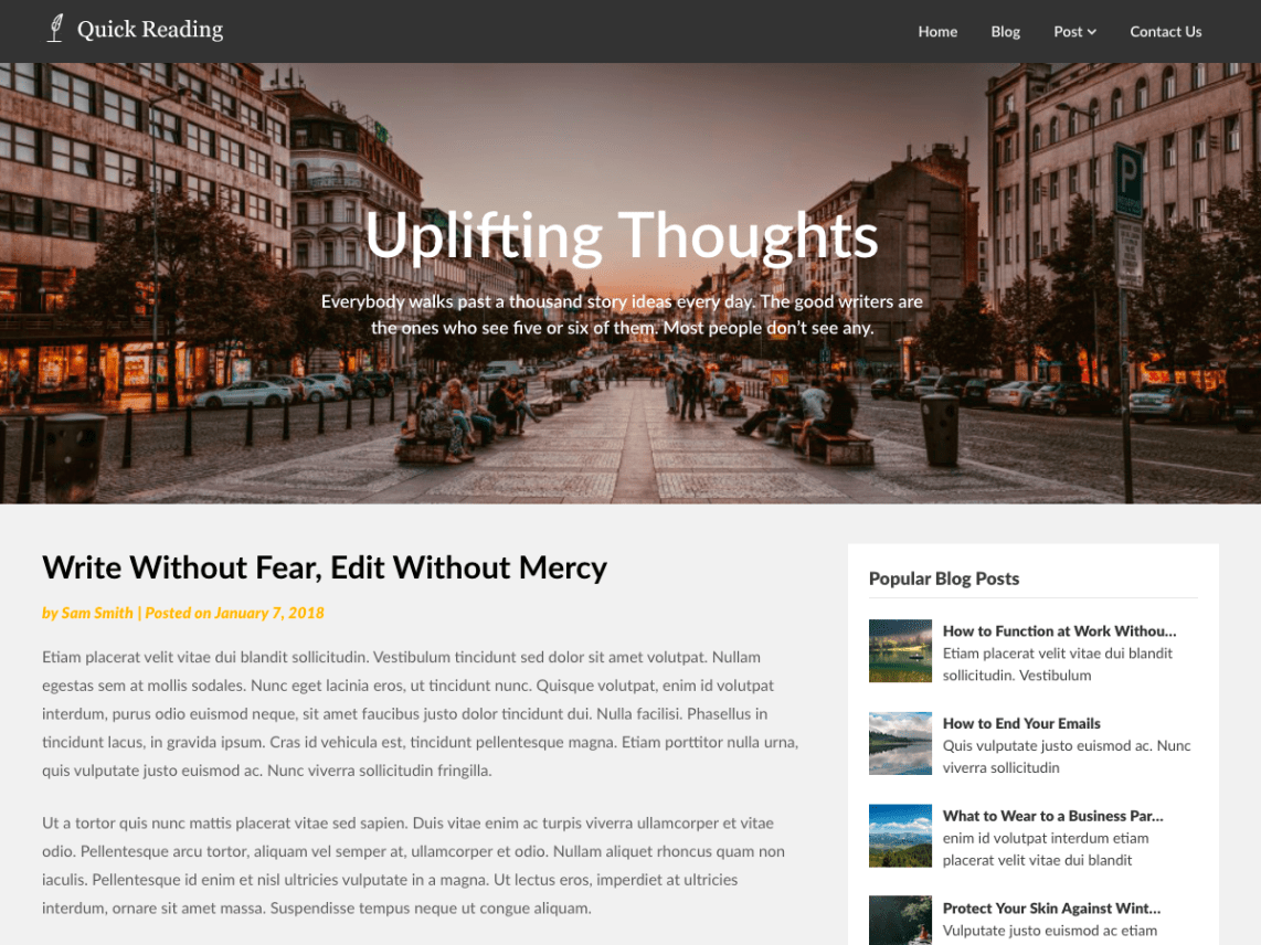 Quick Reading WordPress Theme