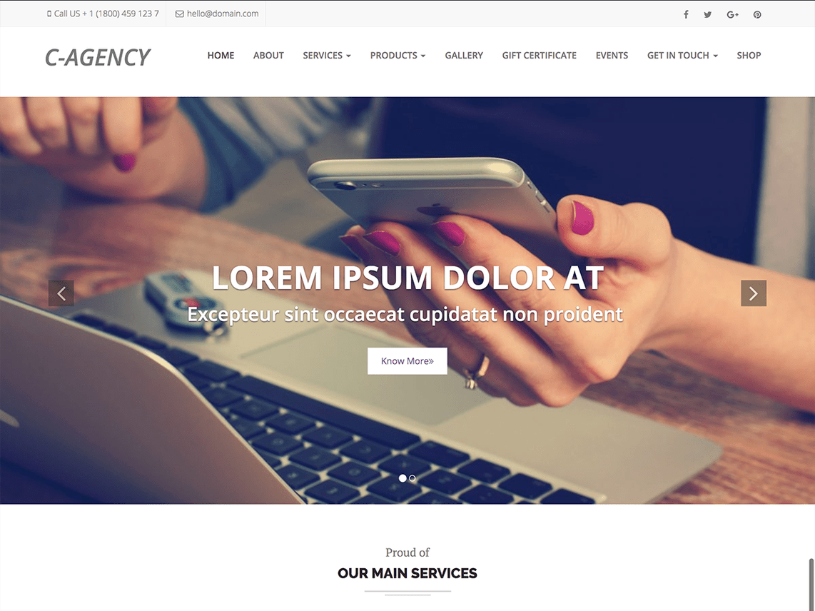 Corporate Agency WordPress Theme