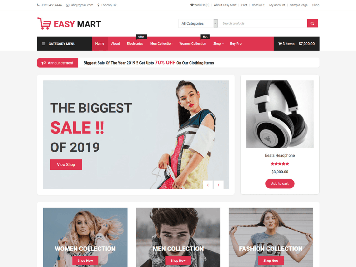 Easy Mart WordPress Theme