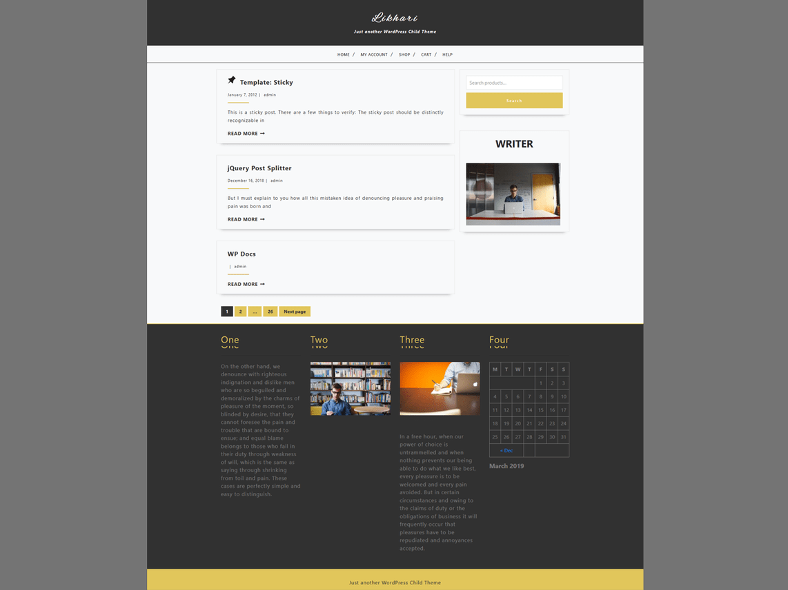 Likhari WordPress Theme