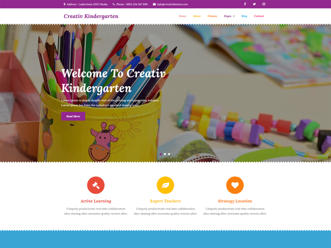 Creativ Kindergarten WordPress Theme