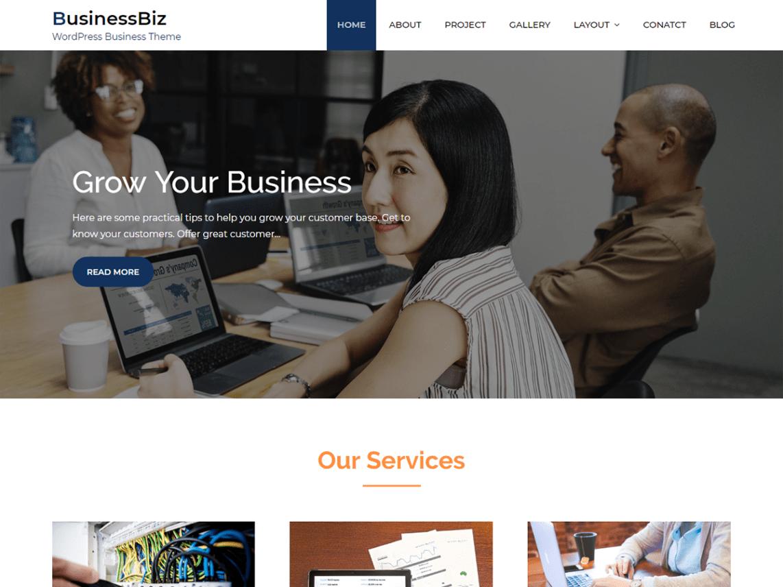 Businessbiz WordPress Theme