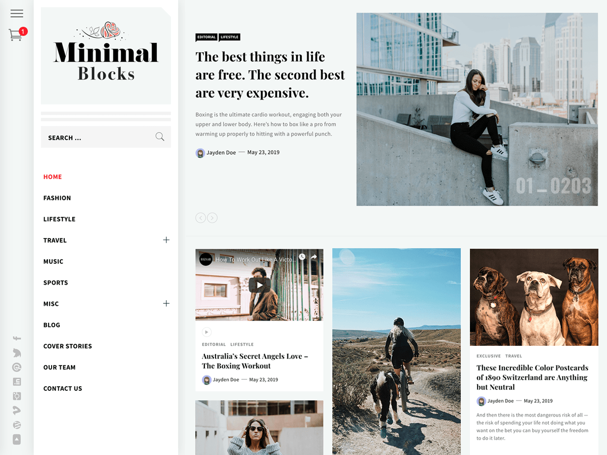 Minimal Blocks WordPress Theme