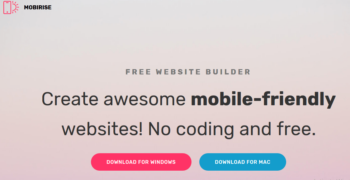 Mobirise Free Website Builder
