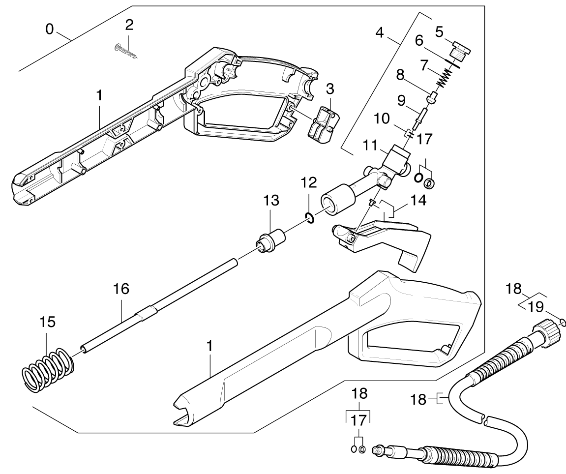 Karcher K4 Pressure Washer Parts Diagram
