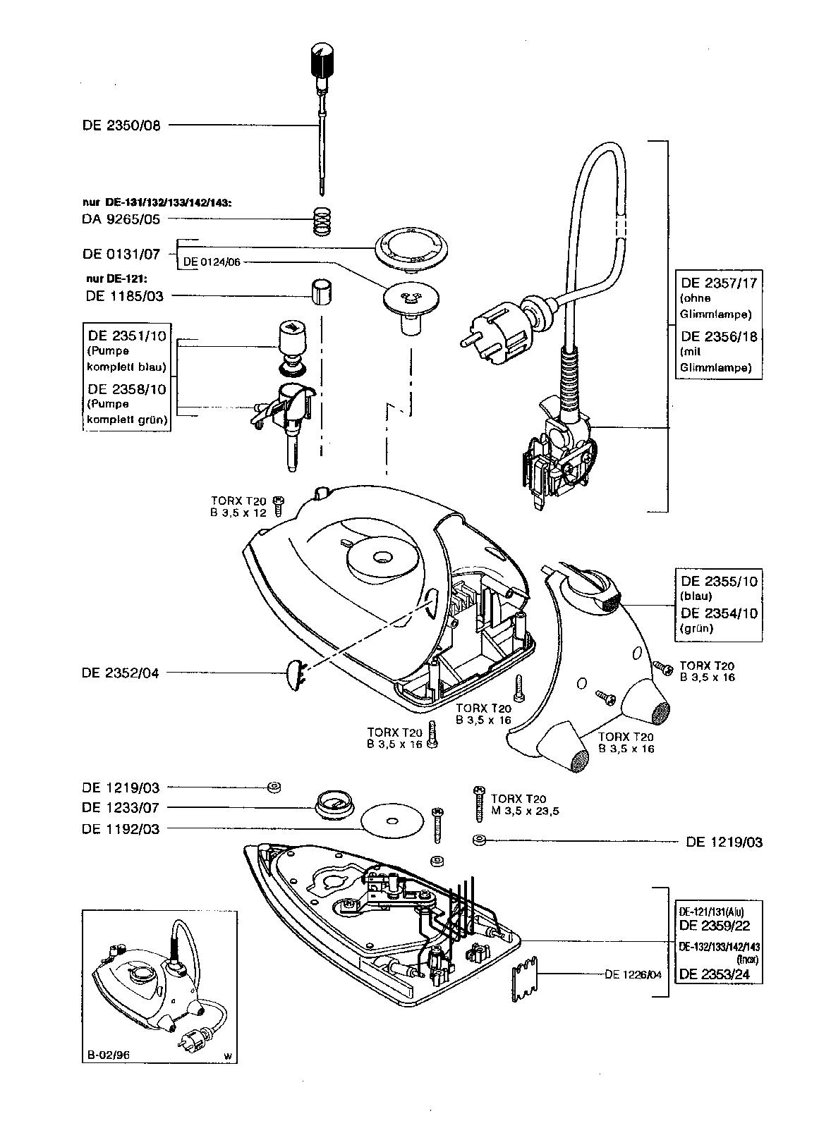 Rowenta Iron Spare Parts