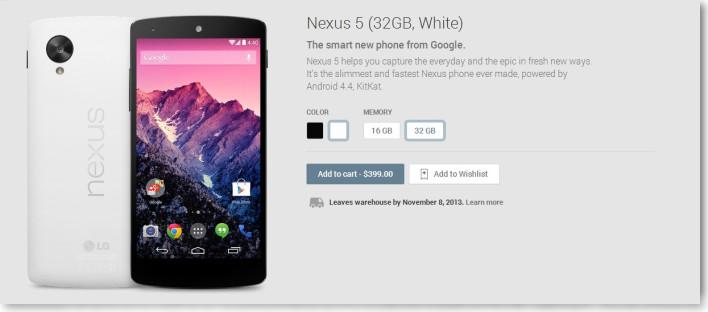 Nexus 5 order