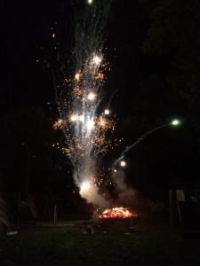 bonfire and firework