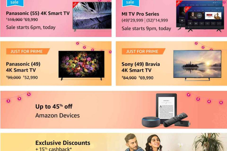 Amazon Great Indian Festival Sale, 2018, Deals & Offers