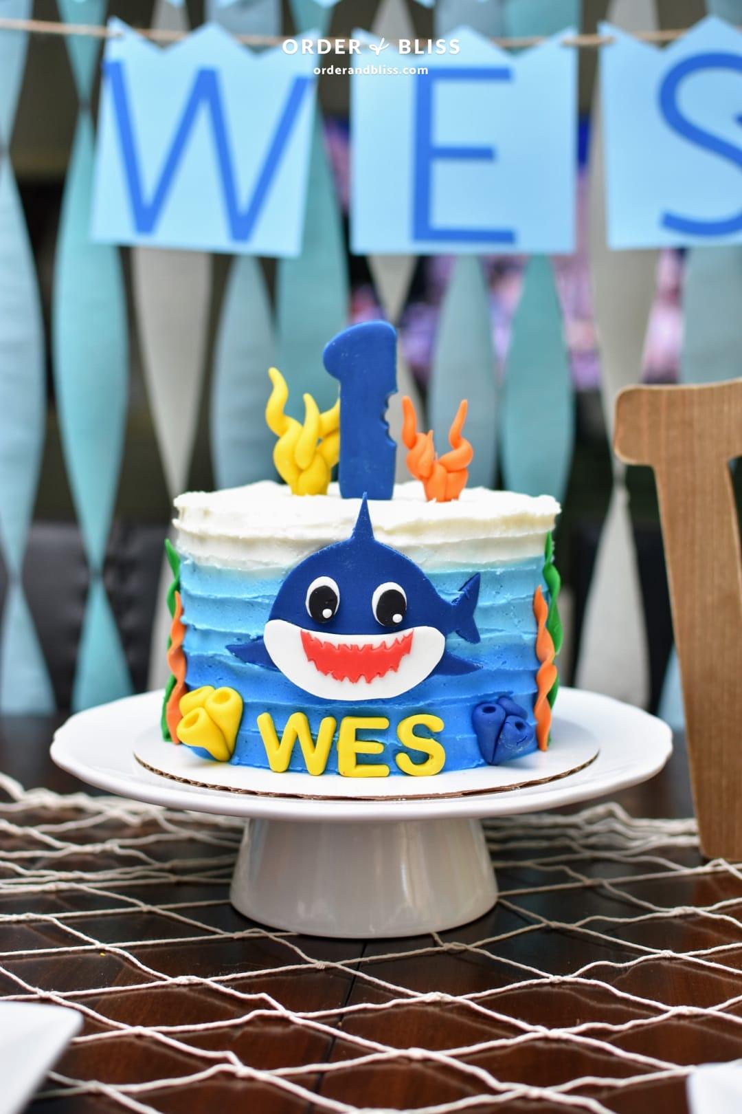 Wes Baby Shark Birthday Bash Home Organization Order Bliss