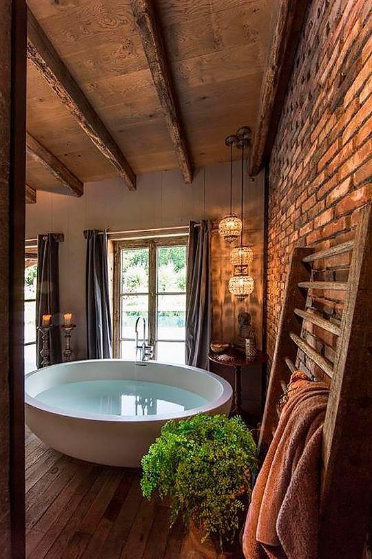 charming farmhouse bathroom