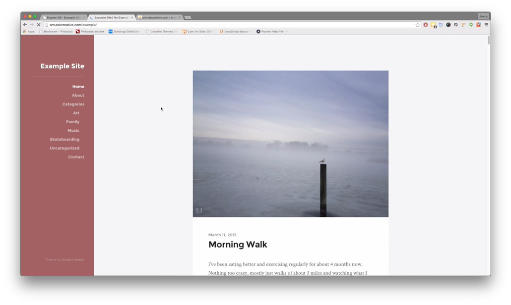 Image of live site after successful migration
