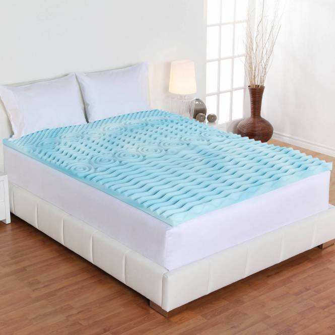 Full Size Orthopedic Memory Foam Mattress Firm Bed Topper Gel Pad 2 Inch Cover