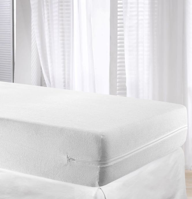 Elastic Mattress Cover Bed Protector Fully Enclosed Zipped King Size 150x190 200