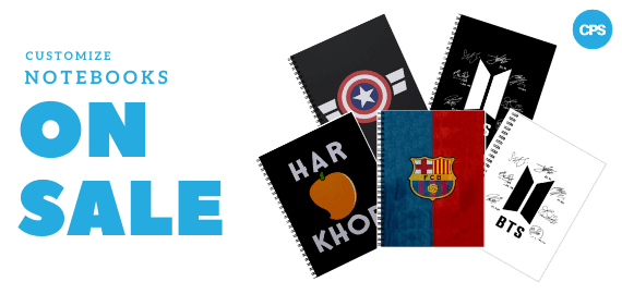 Customize Notebook Sale on CPSdotpk