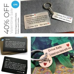 Customize Metal Card Metal Keychain Combo