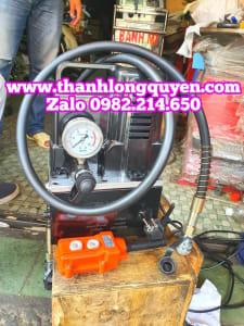 Bơm điện thủy lực công tắc bấm tay qq-700 1.2kw