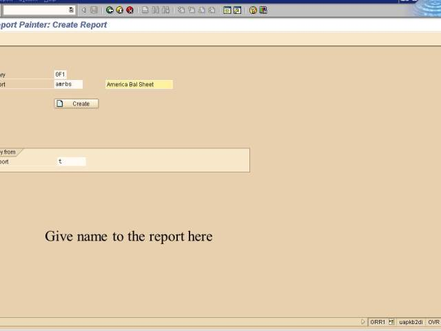 5. give the name of the report