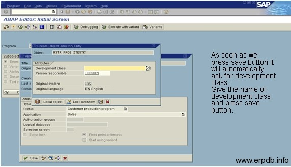 Create Program in SAP ABAP 3