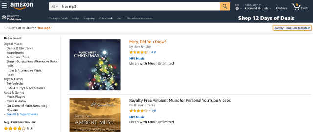 Download free music from amazon