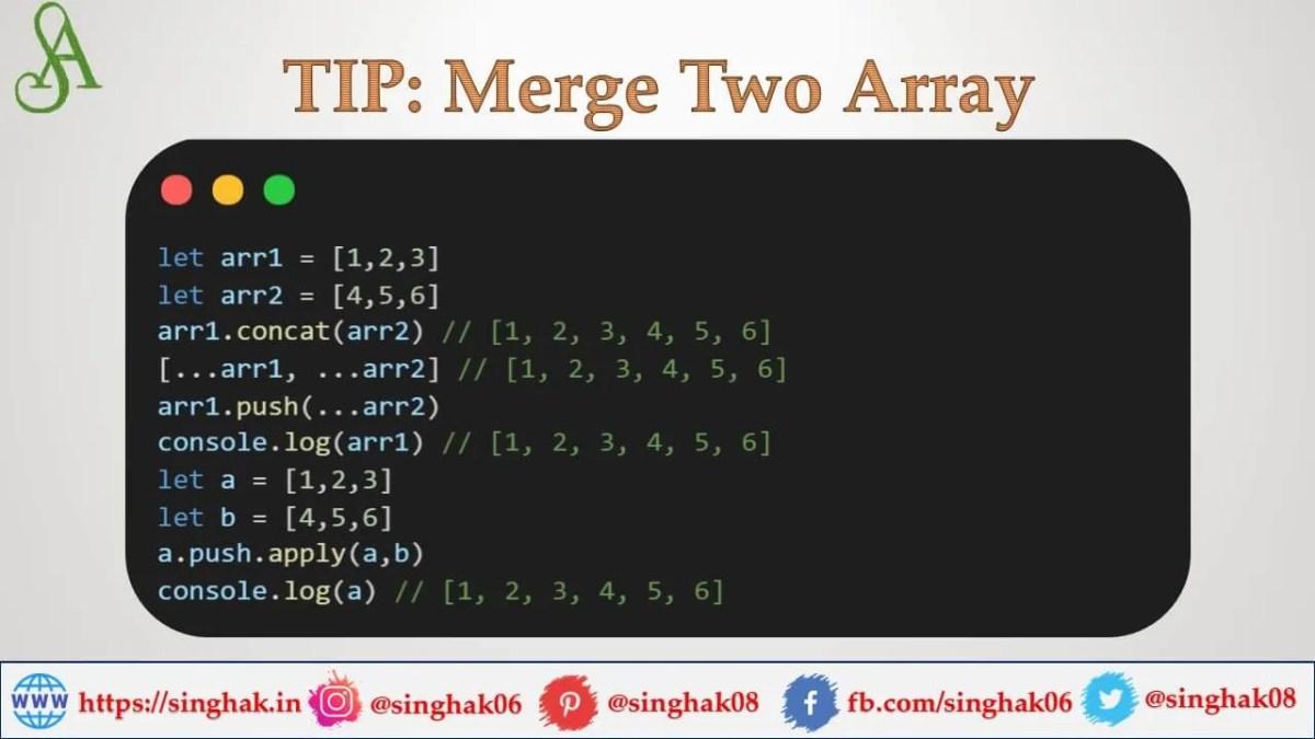 array merge in javascript