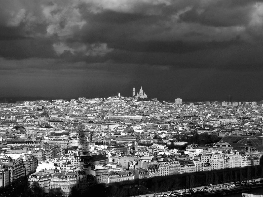 View of Montmatre from the Eiffel Tower
