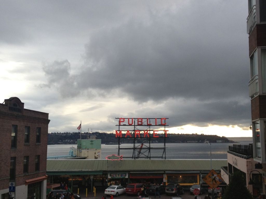 market with clouds
