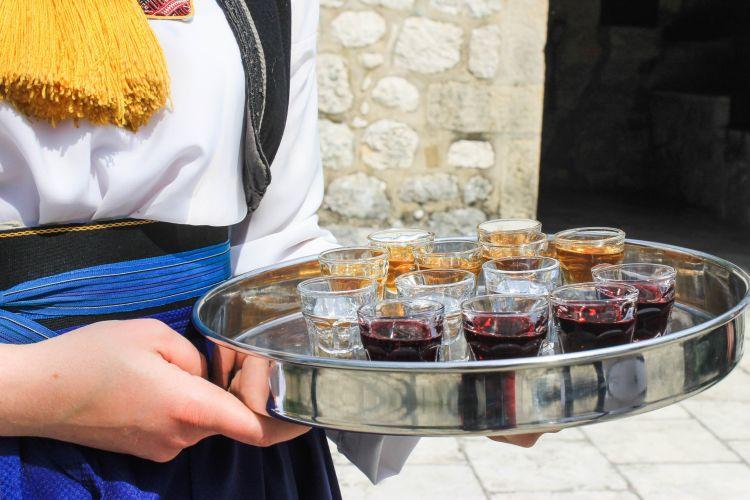 Drinking Rakija in Croatia