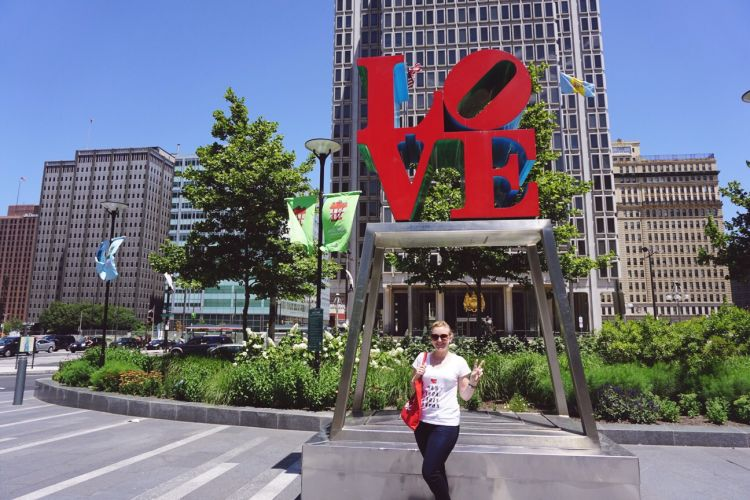 Philadelphia LOVE sign in Dilworth Park