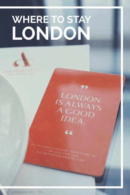 Where To Stay in Central London
