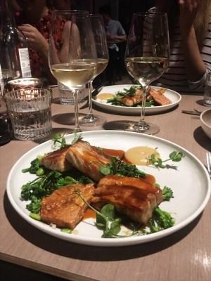 Dinner at Sky Garden in London