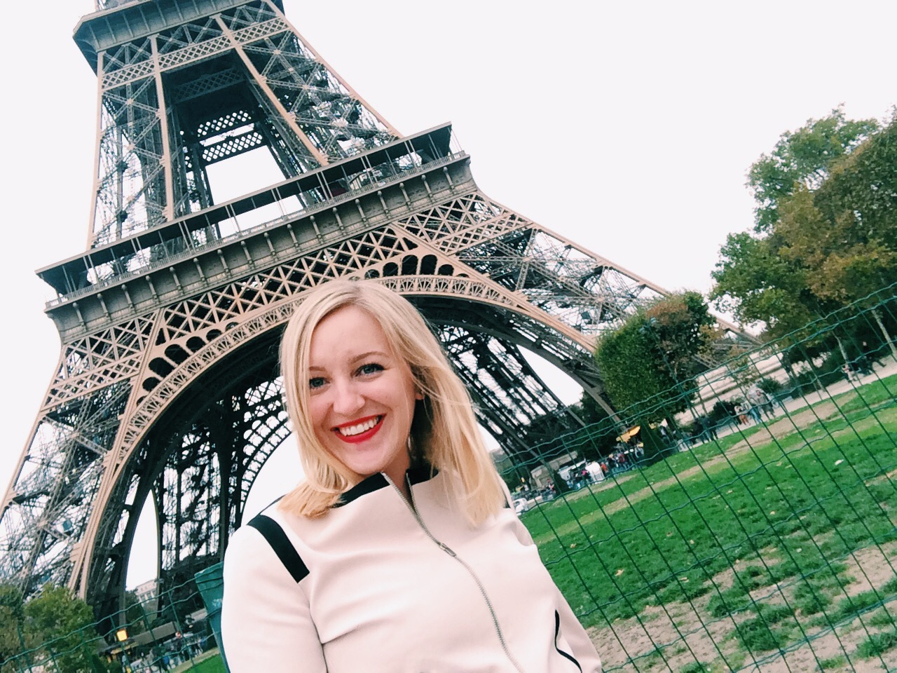 Happiness at the Eiffel Tower