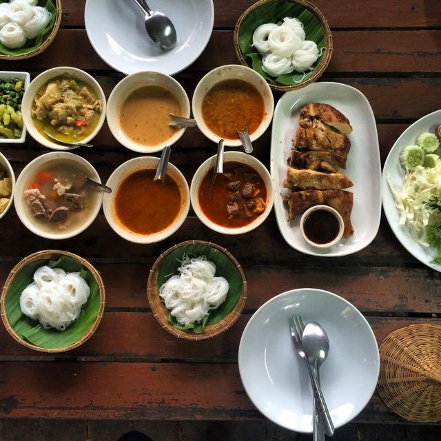 Northern Thai feast