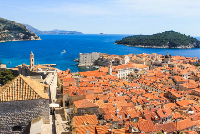 Dubrovnik view from city walls