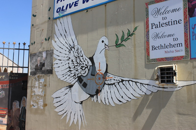 Banksy on the border with Palestine