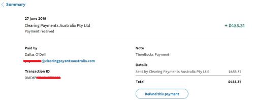 TimeBucks payment proof