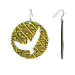 First Nations Gifts Yellow Bunjil Earrings