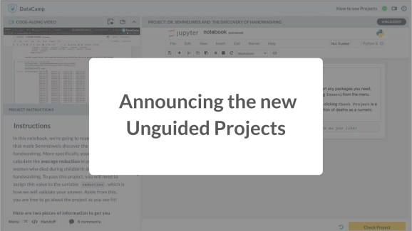 Introducing Unguided Projects: The World's First Interactive Code-Along Exercises