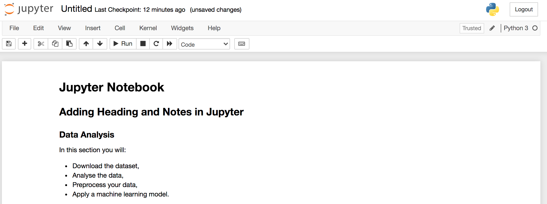 Installing Jupyter Notebook