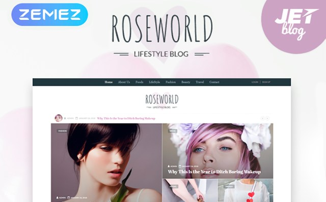 Roseworld - Lifestyle Blog WordPress Theme